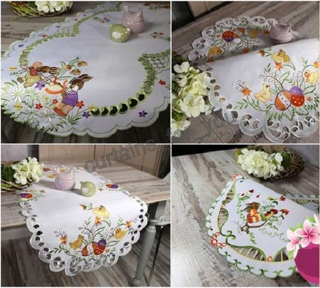 easter table runner tablecloths 9 designs amazing for you. Black Bedroom Furniture Sets. Home Design Ideas