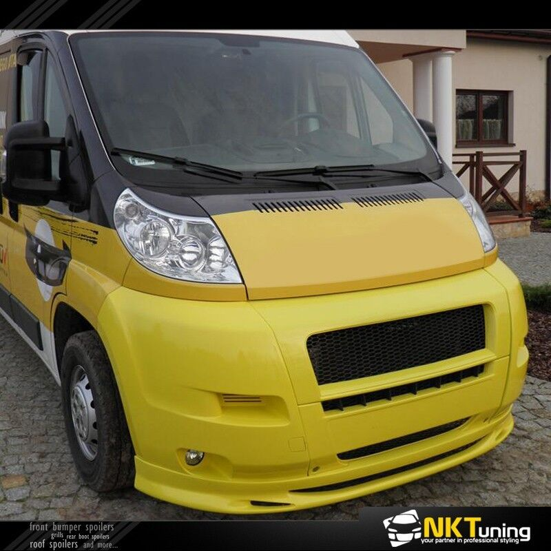 fiat ducato peugeot boxer citroen jumper 2006 front bumper spoiler ebay. Black Bedroom Furniture Sets. Home Design Ideas