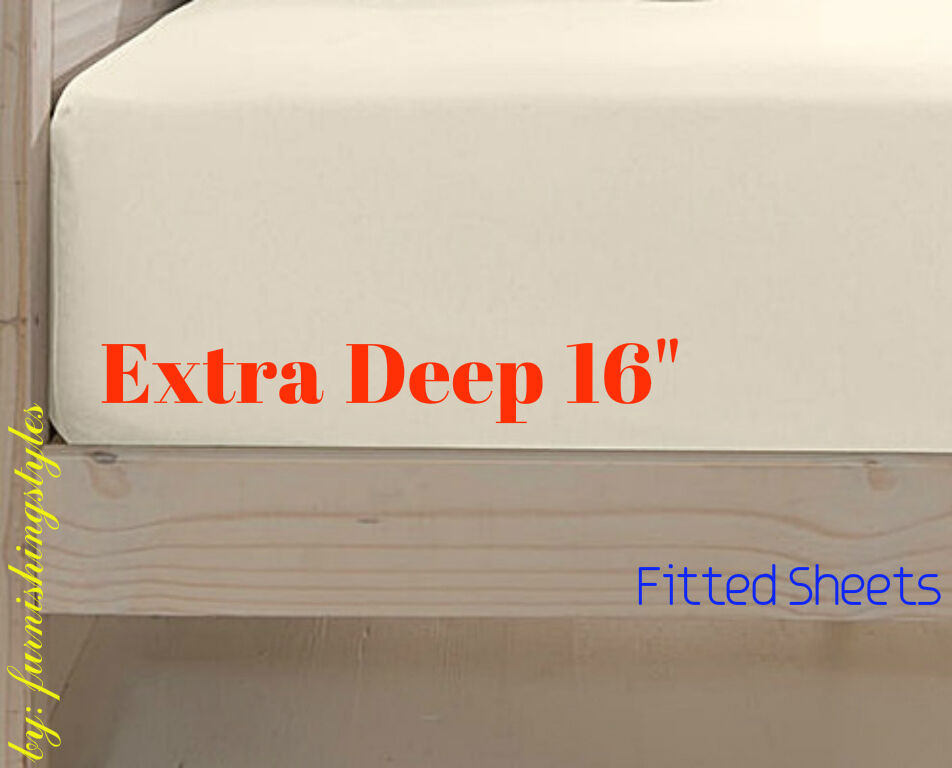 Extra Deep Fitted Sheets Super King Size Bed