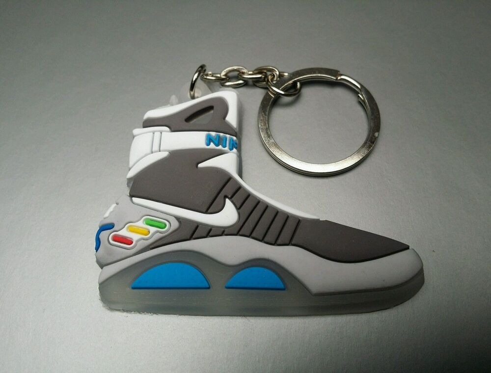 ba756aa291df Details about 2D Nike Air Mag Keyring Keychain Glow In The Dark Back to the  Future Huarache