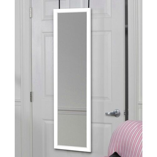 Full length door hanging wall mount white dressing mirror for White full length wall mirror