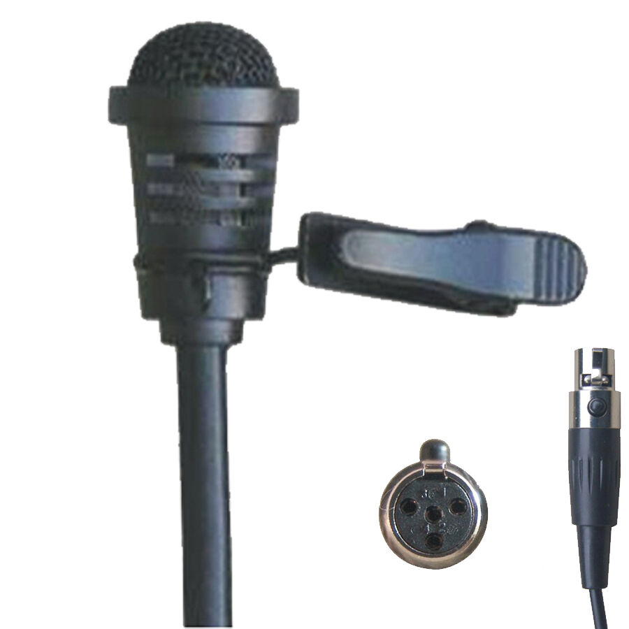 cardioid new lapel lavalier clip microphone for shure wireless mic sets ebay. Black Bedroom Furniture Sets. Home Design Ideas