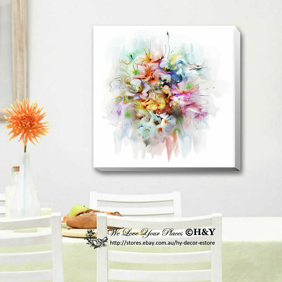Framed Canvas Wall Decor : Quot bouquet watercolour stretched canvas print framed kids
