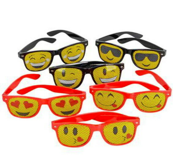 12 MESH EMOJI SUNGLASSES PARTY FAVOR GOODY BAG CARNIVAL ...