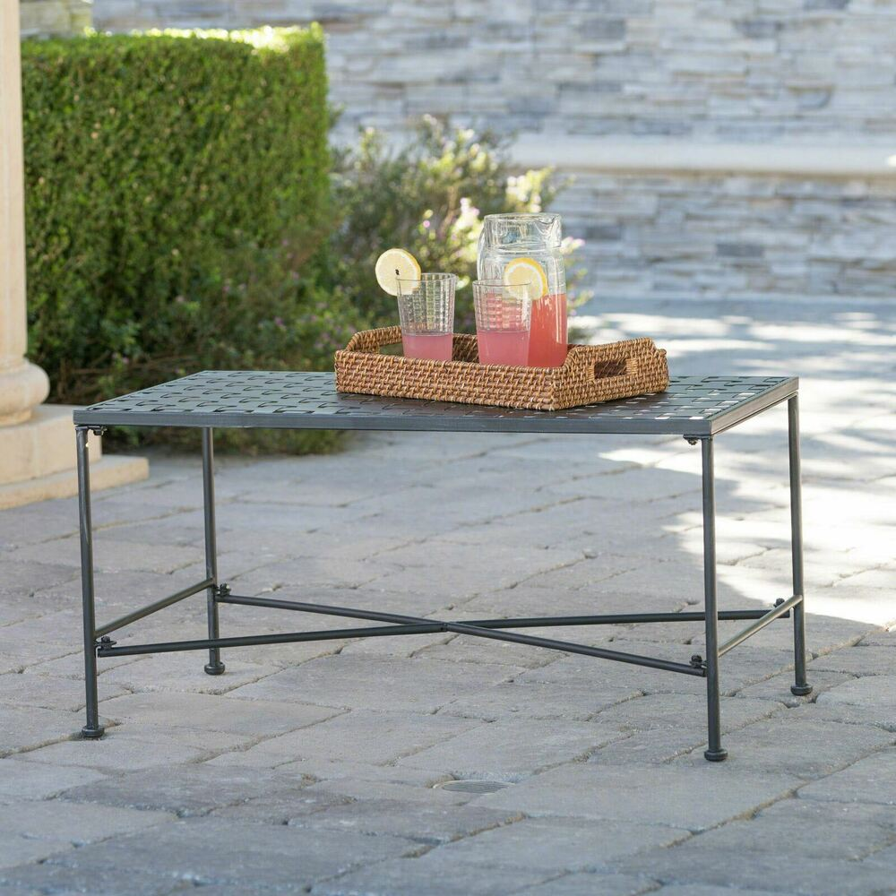 Outdoor Black Iron Coffee Table Ebay