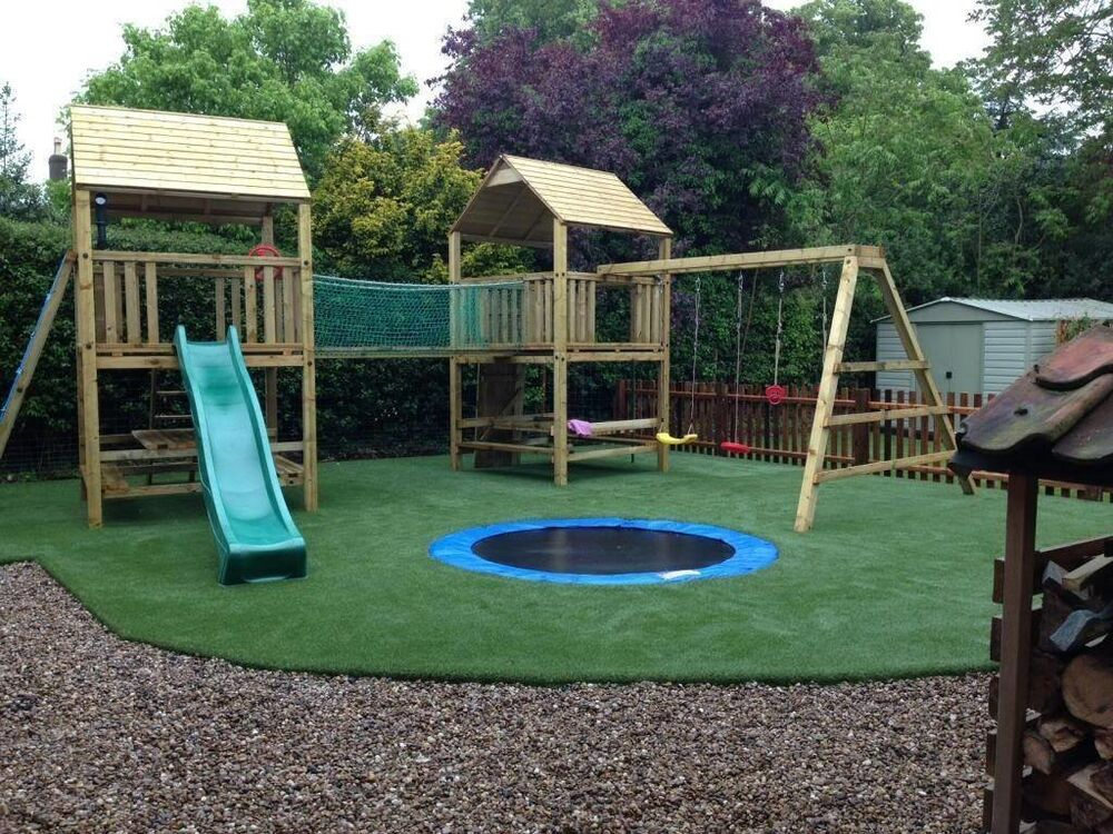 outdoor swing set tree play house kids children bar large slide garden furniture ebay. Black Bedroom Furniture Sets. Home Design Ideas