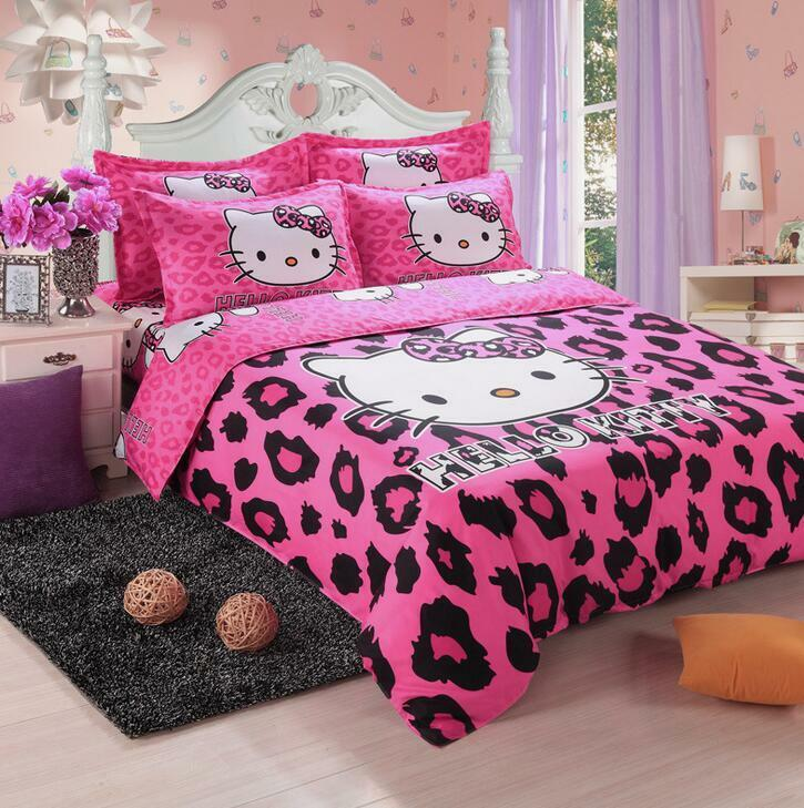 New Cute Hello Kitty Bedding Duvet Quilt Cover Bedding Set