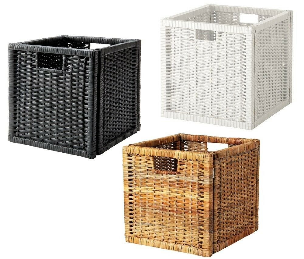 ikea bran s rattan korb box aufbewahrungsbox kasten f r expedit kallax regal ebay. Black Bedroom Furniture Sets. Home Design Ideas