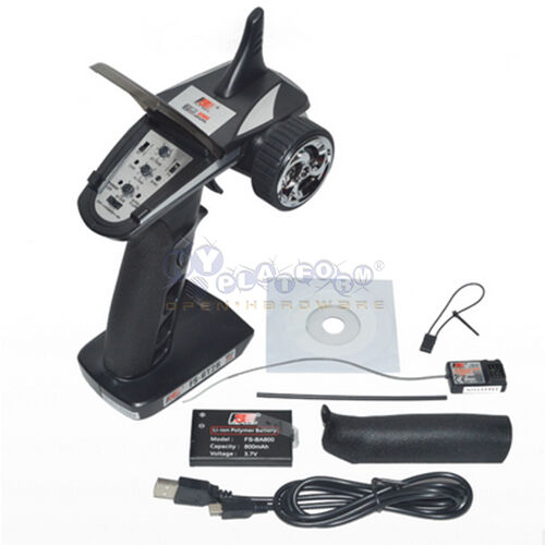 FS-GT2B 2.4G 3CH Radio Model Remote Control Transmitter ...