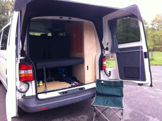 Kiravans Barn Door Awning Vw T5 Campervan Conversion