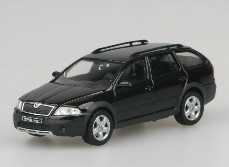 skoda octavia combi scout - black magic model carabrex 1:43