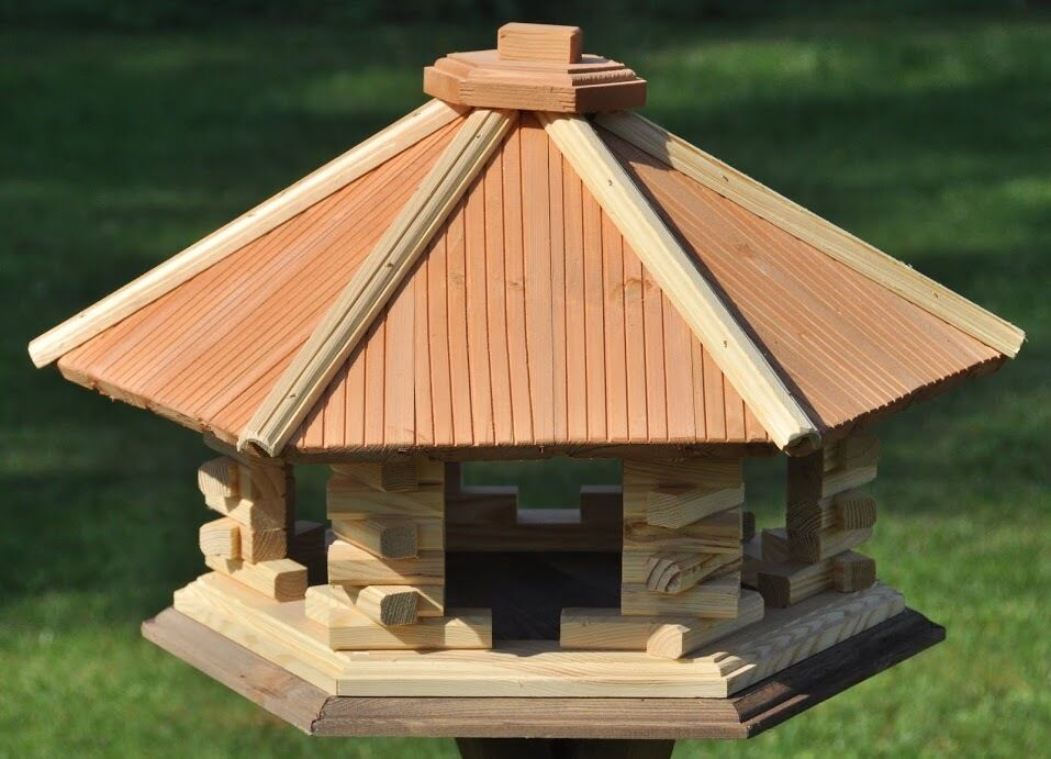 vogelhaus aus holz vogelh user vogelfutterhaus wooden bird feeder ebay. Black Bedroom Furniture Sets. Home Design Ideas