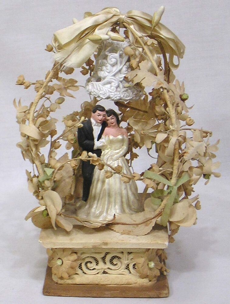 Vintage Wedding Cake Topper 1930s Very Elaborate Foliage