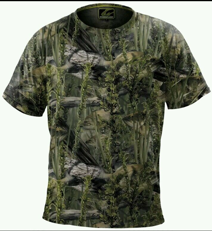 Fishouflage performance polyester bass fishing camo tee t for Camo fishing shirt