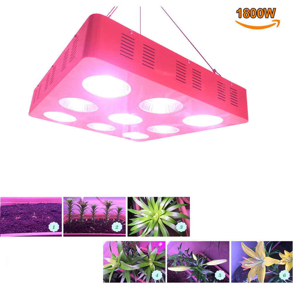 1800w full spectrum cob led grow light system panel for plant replace hps lamp ebay. Black Bedroom Furniture Sets. Home Design Ideas