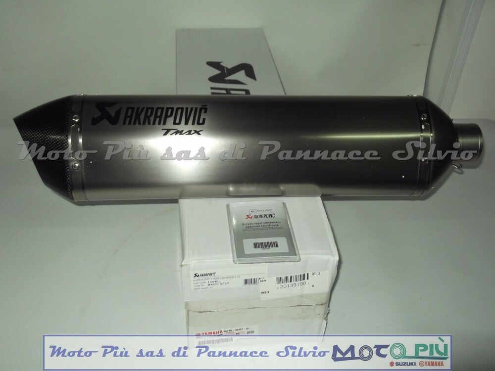 akrapovic exhaust yamaha tmax 500 530 2008 2016 with titanium muffler ebay. Black Bedroom Furniture Sets. Home Design Ideas