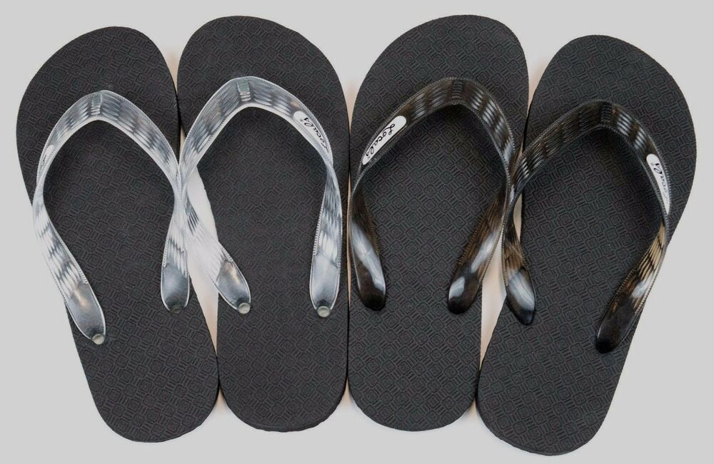 28047097545 Locals Flip Flops Slippers Black Clear Hawaii Rubber Men s Women s Free  Shipping