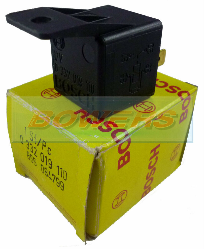 Genuine Bosch 0332019110 12v 30 Amp 4 Pin Relay With