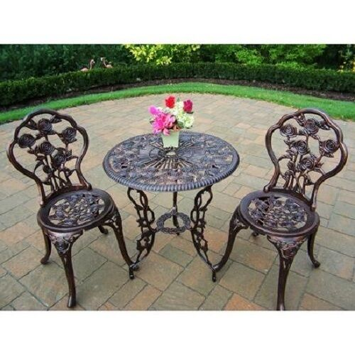 Outdoor patio set bistro table chairs outdoor garden for Lawn and garden furniture