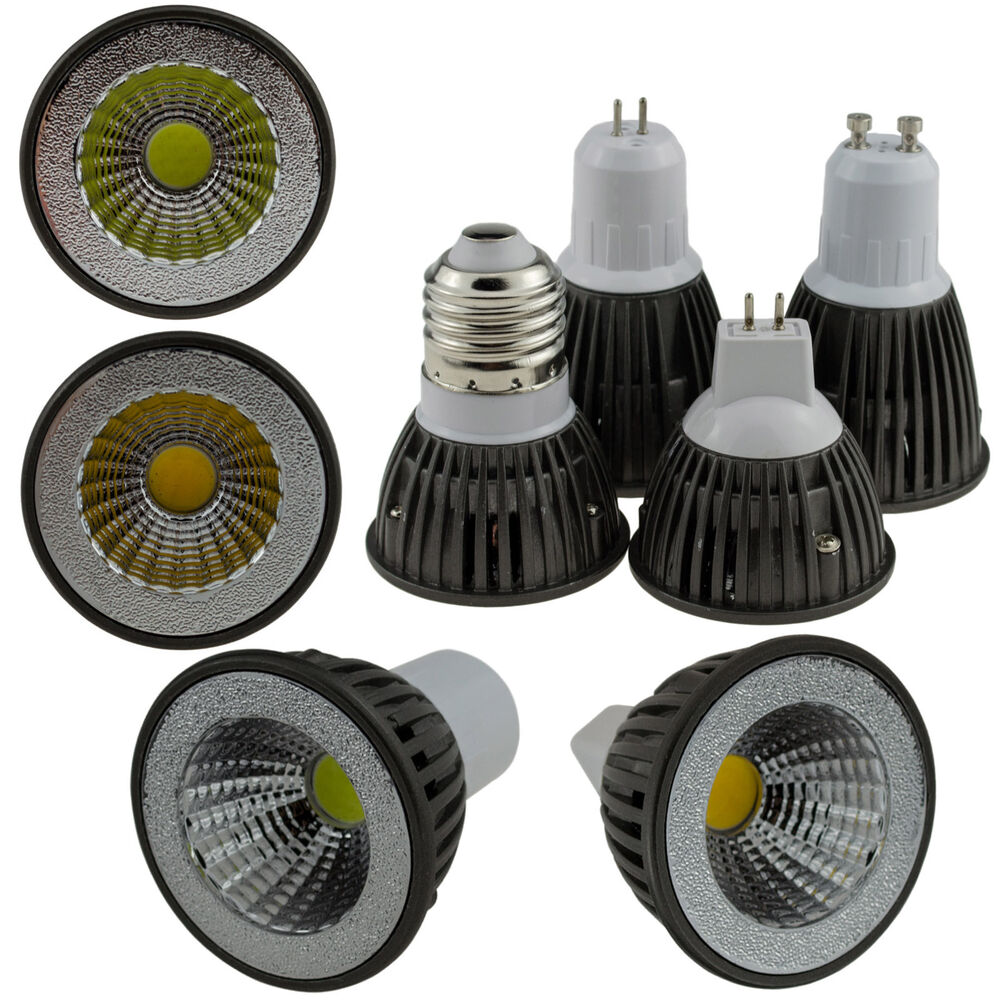 3mr16 E26 W Mr16 Flood Led Light Bulb: LED COB Spotlight Dimmable E26 E27 GU10 GU5.3 MR16 6W 9W