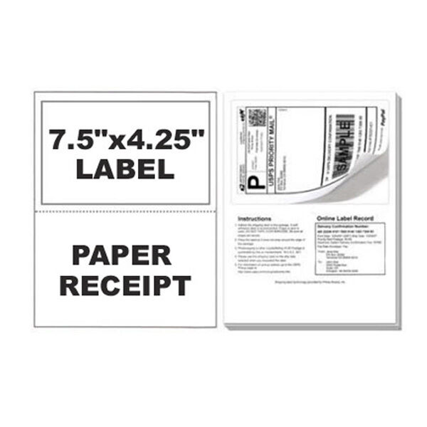 300 Paypal Postage Ebay ClickNShip Shipping Labels W/ Tear