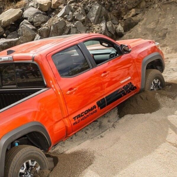 Toyota Tacoma Rear Bumper Toyota TACOMA 2016 Wild Mountains style graphics side stripe decal ...