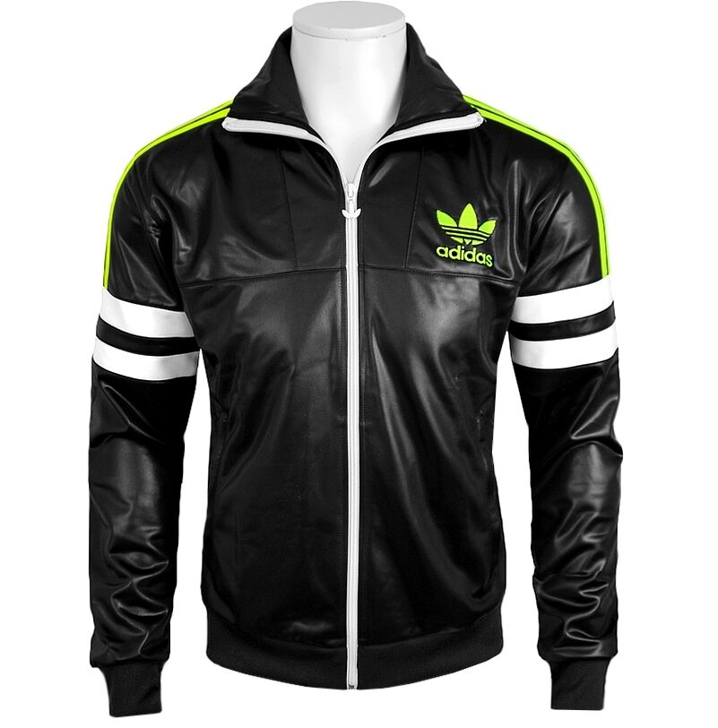 adidas chile 62 tt herren trainingsjacke trefoil leder jacke club jacket schwarz ebay. Black Bedroom Furniture Sets. Home Design Ideas