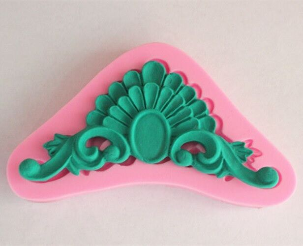 Art deco cake decorating fondant sculptured flower 3d for Art deco cake decoration
