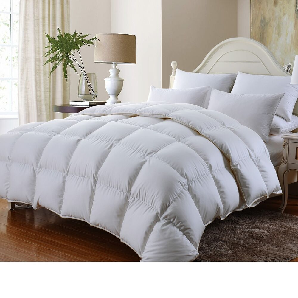 luxurious 1200tc baffle box siberian goose down comforter twin full queen king ebay. Black Bedroom Furniture Sets. Home Design Ideas
