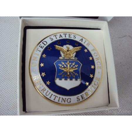img-New USAF United States Air Force Enamel Recruiting ID Badge Insignia