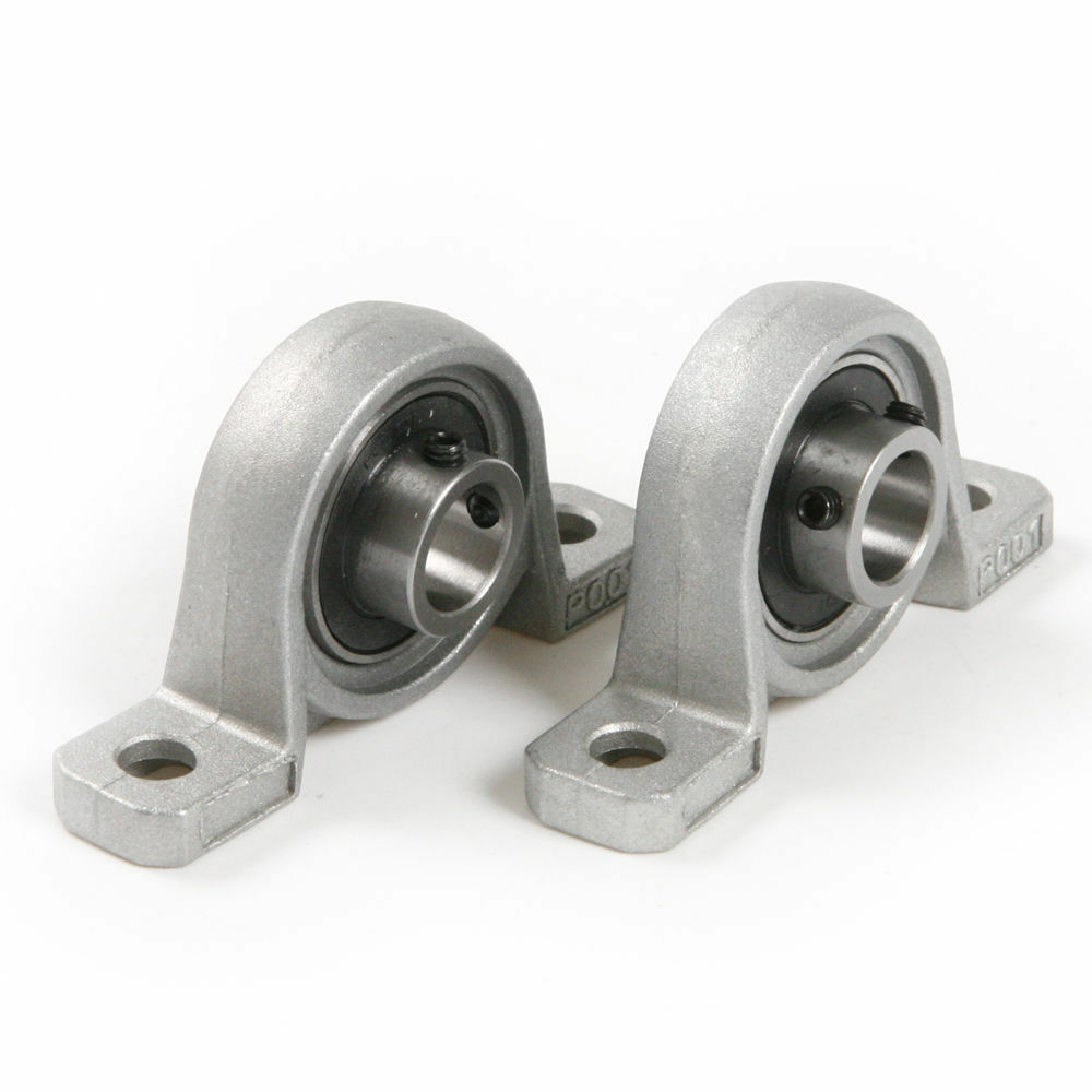 Cast Zinc Block : A pair mm pillow block cast housing mounted ball bearings