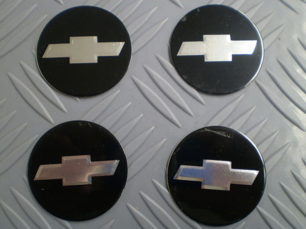 Nos Chevrolet Chevy Center Hub Cap Insert Emblem Stickers