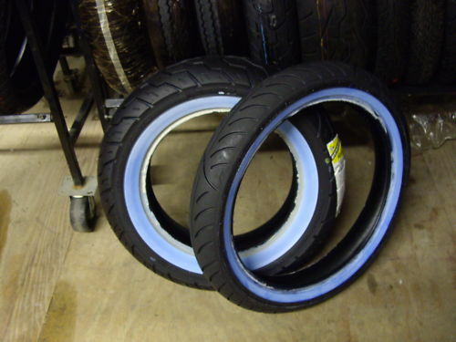A Pair Of White Wall Tires 170 80 15 Amp 100 90 19 Ebay
