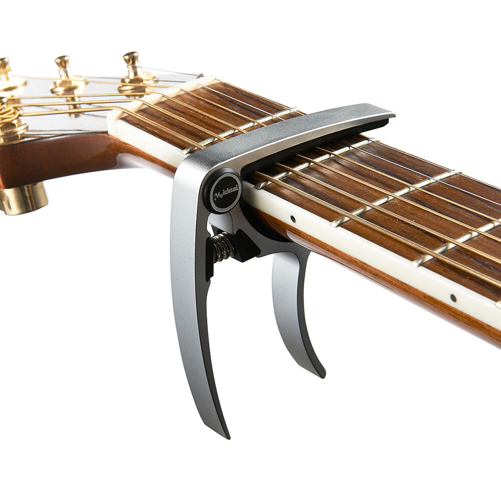 best guitar capo silver guitarra capotraste made of aluminum alloy ebay. Black Bedroom Furniture Sets. Home Design Ideas