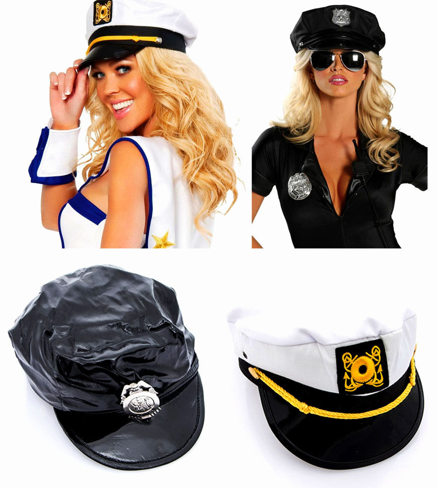 Whether your a sexy Sailor or a proud sea Captain this hat is a great addition to sea based fancy dress outfit. 1x Sailor Hat. The fancy navy hat has an embroidery badge .
