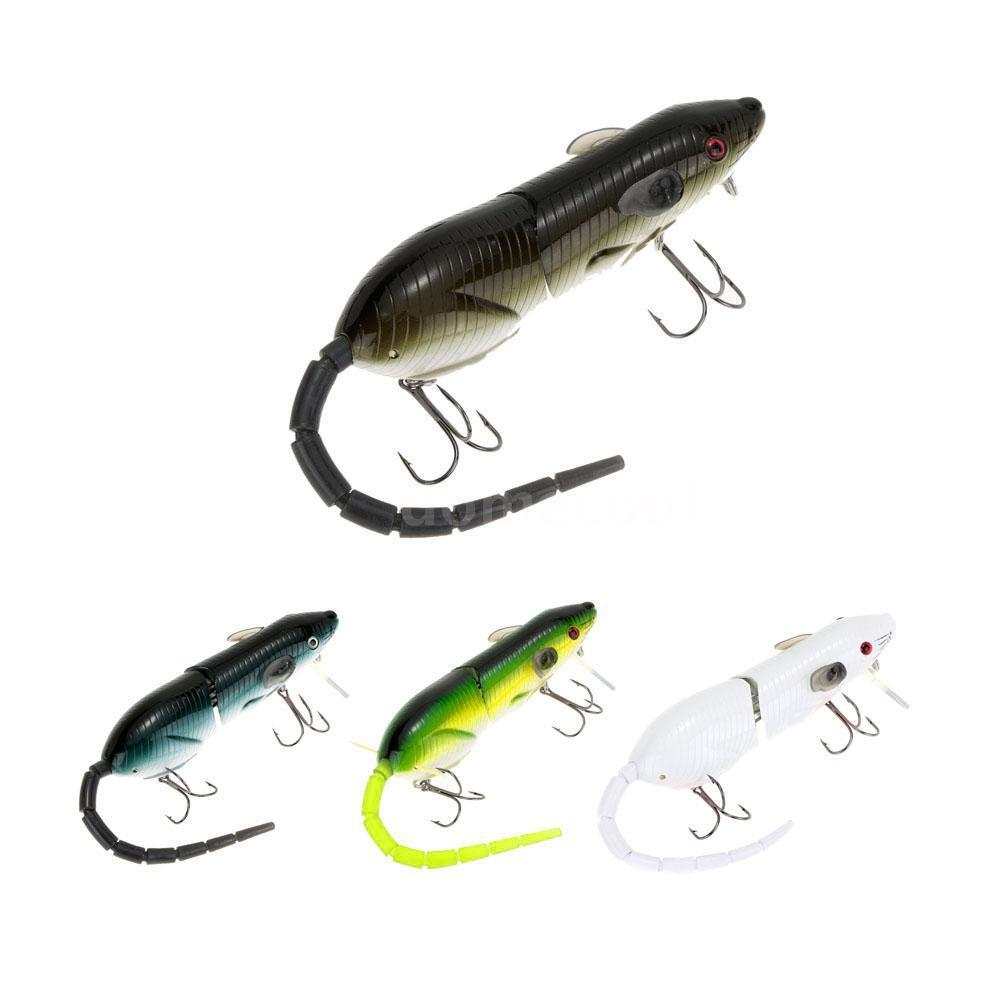 1 mouse lures 2 tails baits mouse lure treble hooks for Mouse fishing lure