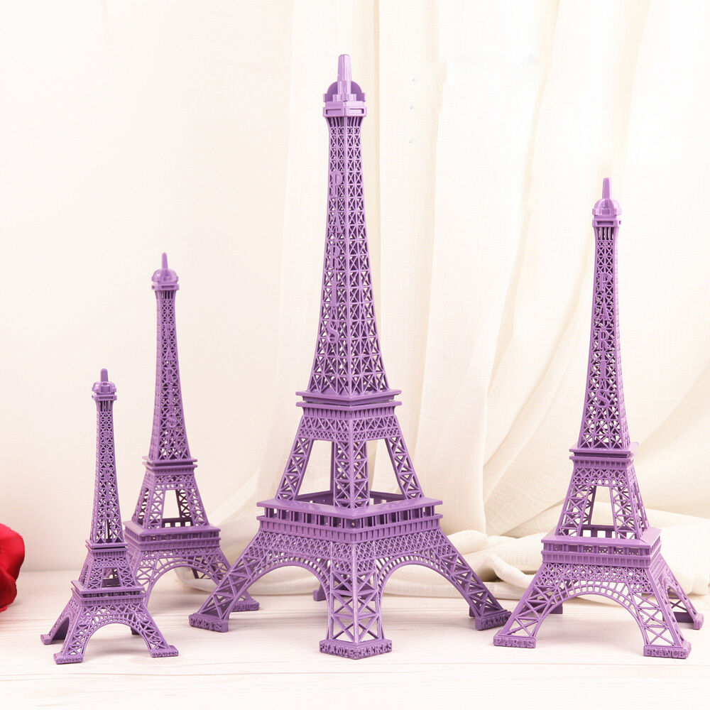 paris home decor items 1pcs purple home model decor gift figurine statue 11689