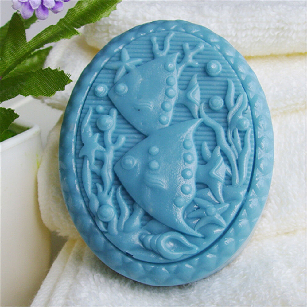 Fish s435 silicone soap mold craft molds diy handmade soap for Silicone fish molds