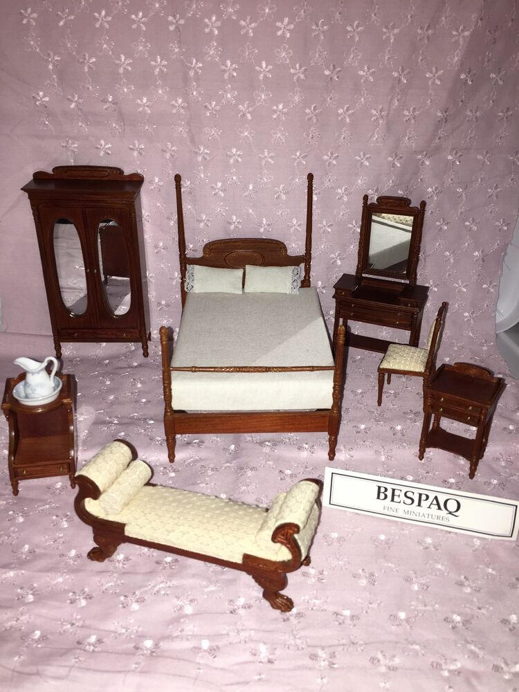 Doll House Bespaq 8 Pc Sara Todd Lincoln Hand Crafted Bedroom Set Stunning