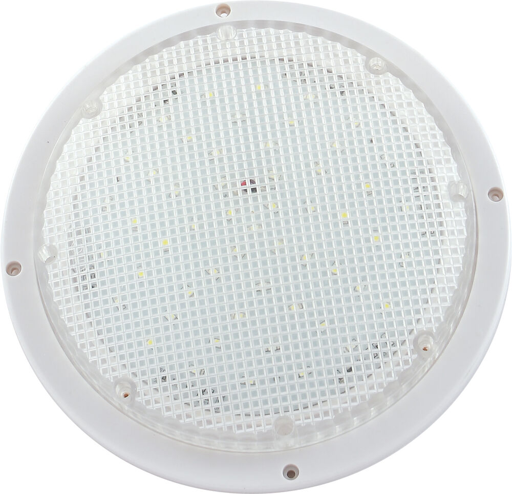 Led Rv Utility Dome Light Fixture For Wall Ceiling W Clear Lens 250 Lum 9090122 Ebay