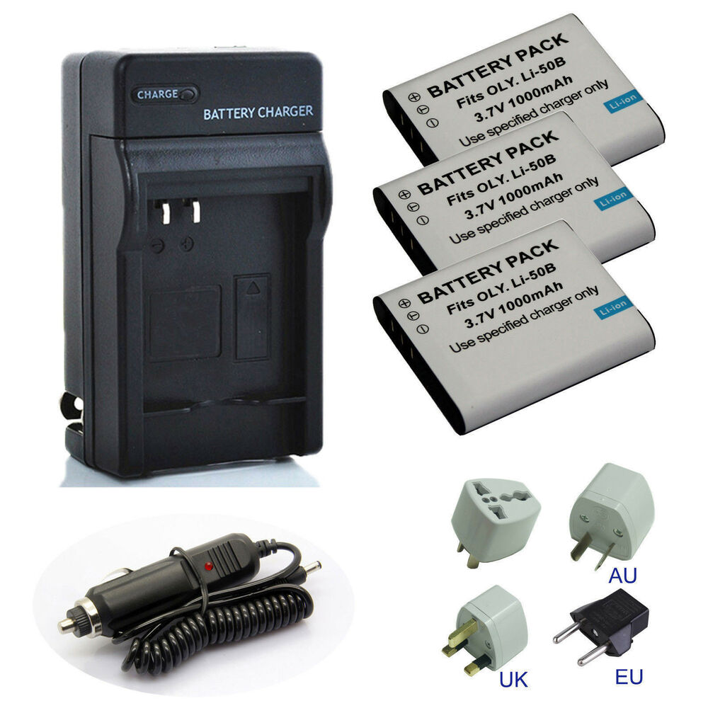 Battery Charger For Olympus Stylus Tough Tg 850 Ihs Tg 860