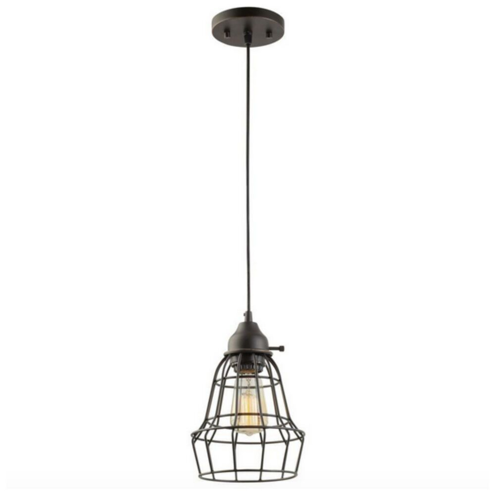 Hanging Light Fixture: Modern Industrial Edison Hanging Cage Pendant Light