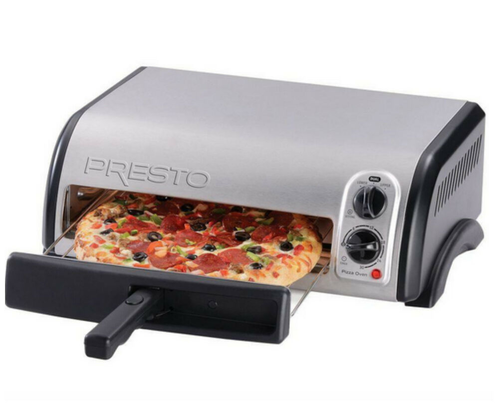 Electric Pizza Toaster Oven Countertop Stainless Steel Small Kitchen ...