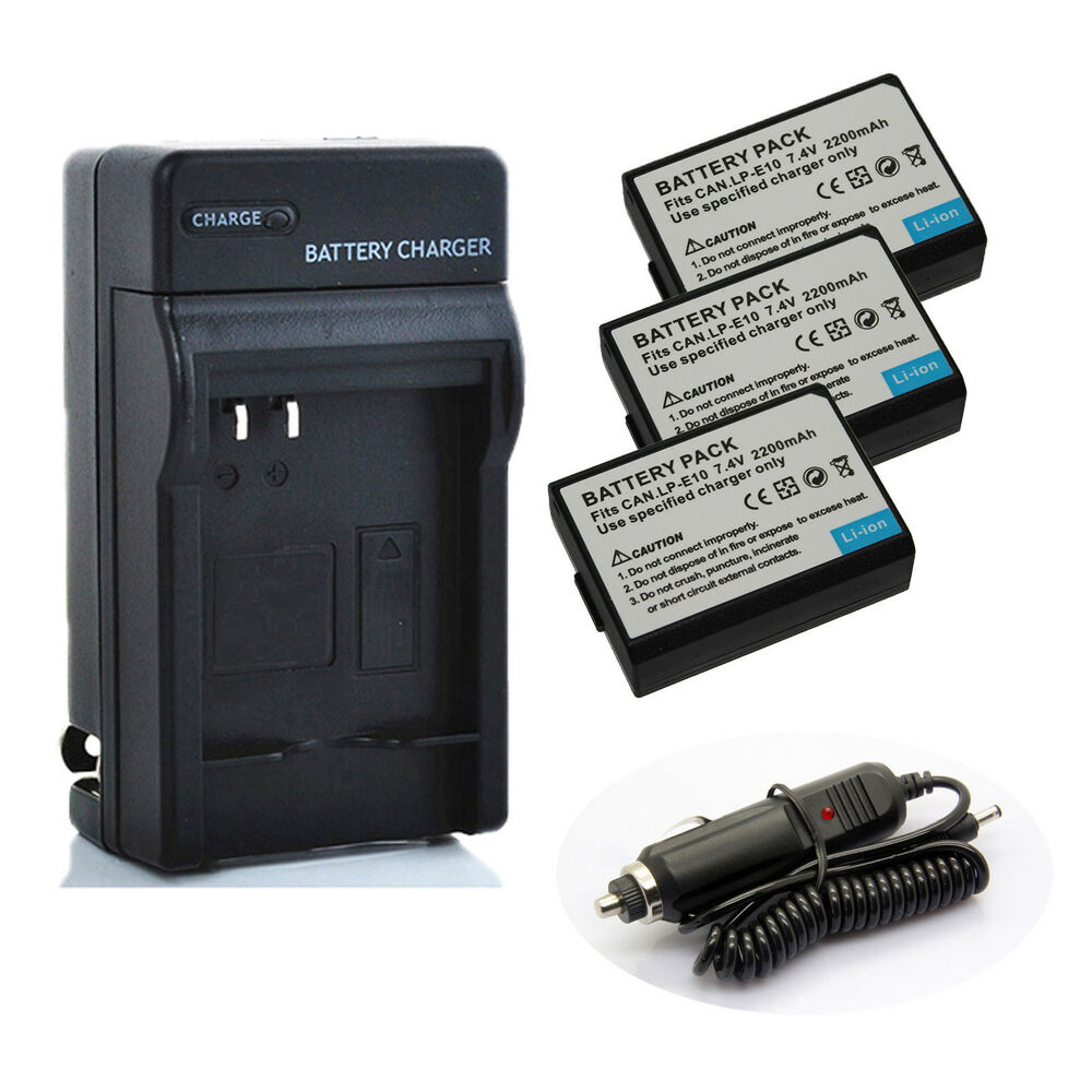 canon lp e10 li ion battery charger pack for canon eos. Black Bedroom Furniture Sets. Home Design Ideas