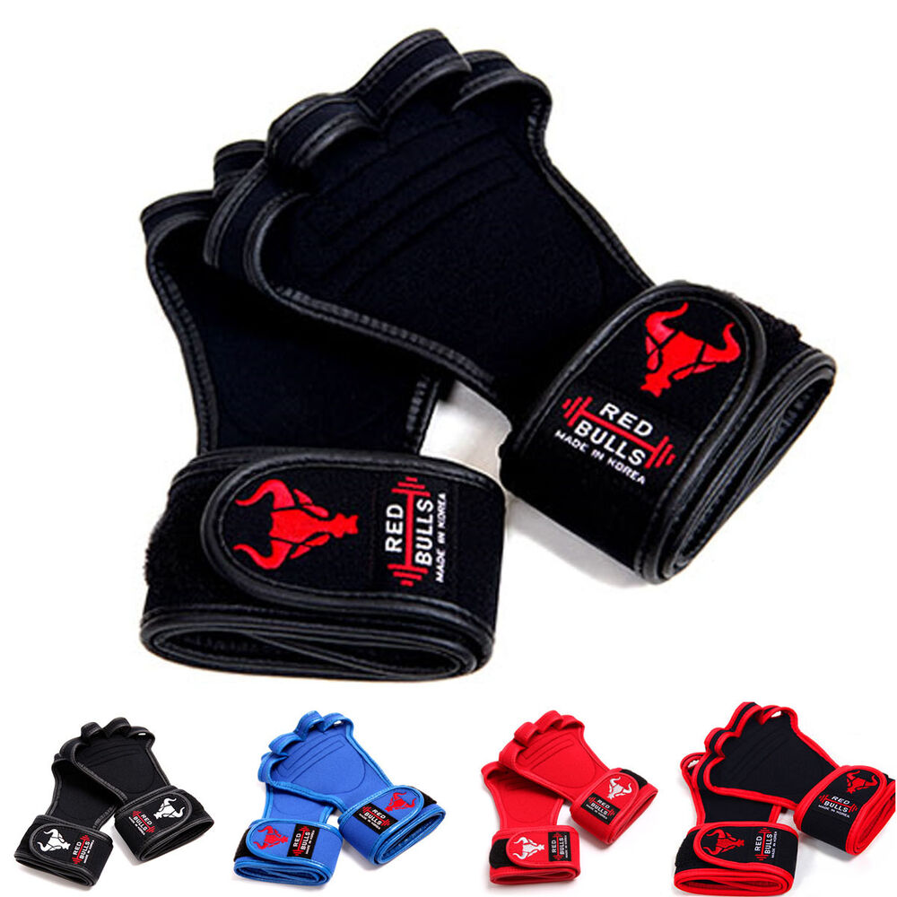 Weight Lifting Gym Gloves Training Fitness Wrist Wrap: Fitness Gloves Gym Body Building Weight Lifting Workout