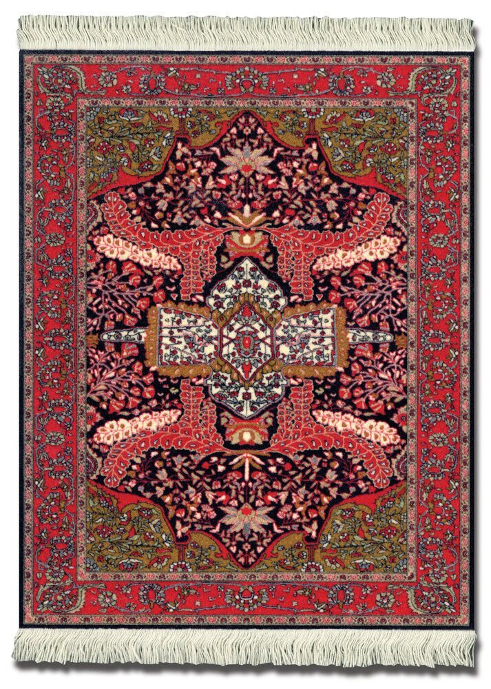 Mouserug Mouse Pad Art Deco Sarouk Rug Oriental Rugs New