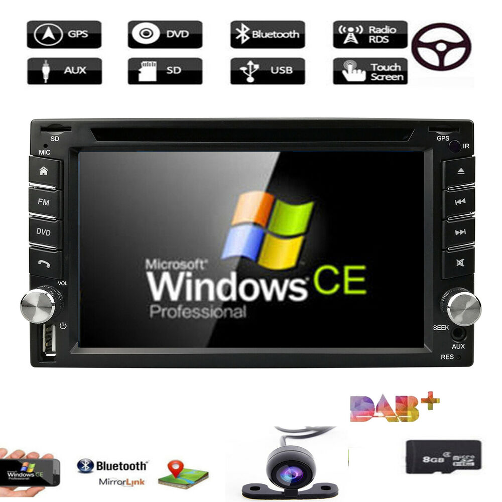 Sony Lens GPS+MAP+Cam-Double 2Din In Dash Car Stereo DVD