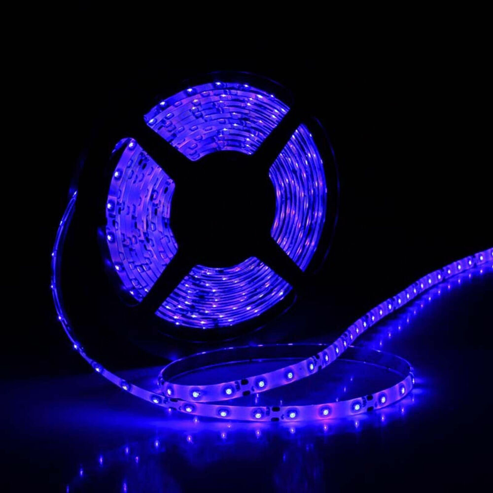 blue 5m 3528 smd 300 led strip light flexible waterproof for car boat moto decor ebay. Black Bedroom Furniture Sets. Home Design Ideas