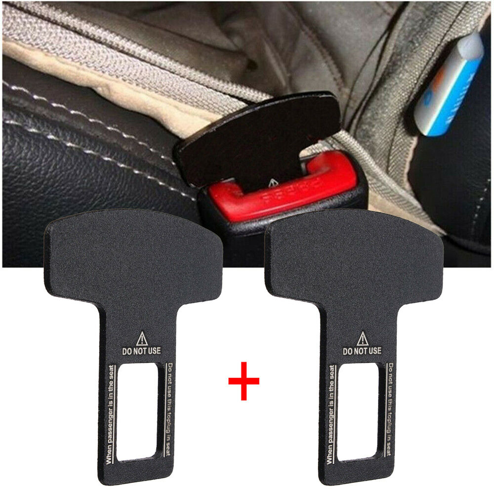 2x car interior accessories auto seat seatbelt safety belt extender buckle black ebay. Black Bedroom Furniture Sets. Home Design Ideas