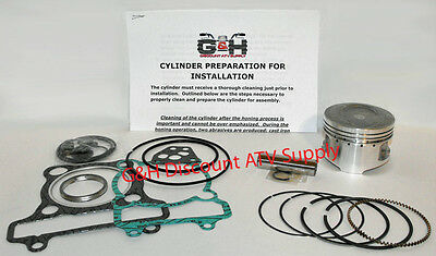 Yamaha YFM250 Big Bear Cylinder Machining Service & Top End Rebuild Kit YFM 250